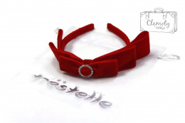 BEAUTIFUL RED HEADBAND WITH BOWS